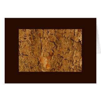 Cartão Latido de árvore dourado