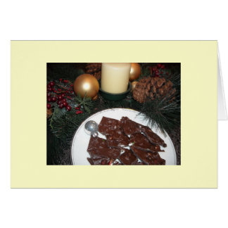 Cartão Latido do bastão de doces com receita
