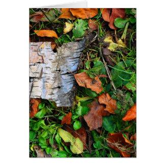 Cartão Latido e folhas