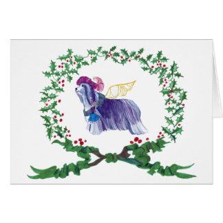 Cartão Latidos farpados do Collie com ALEGRIA