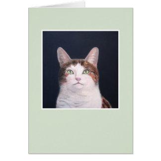 Cartão Layla o gato - quadro verde