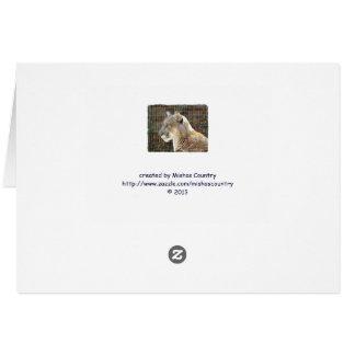 Cartão Leão de montanha/puma