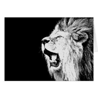 Cartão Leão rujir