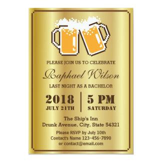 Cartão legal do despedida de solteiro das cervejas convite 12.7 x 17.78cm