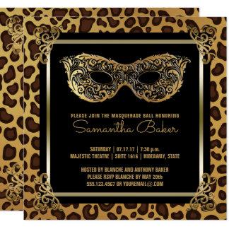 Cartão Leopardo do doce dezesseis do partido | do