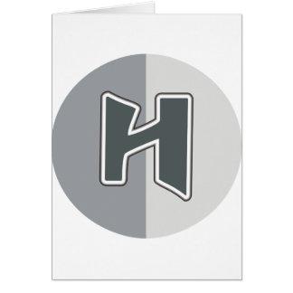 Cartão Letra H