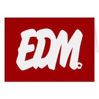 Cartão Letras de EDM