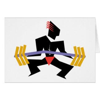 Cartão Levantamento de peso