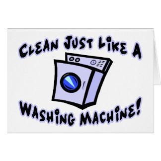 Cartão Limpe apenas como uma máquina de lavar
