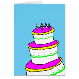 Cartão Limpe o feliz aniversario minimalista simples