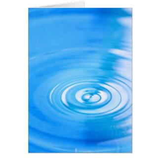 Cartão Limpe ondinhas da água azul
