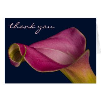 Cartão Lírio de Calla, obrigado