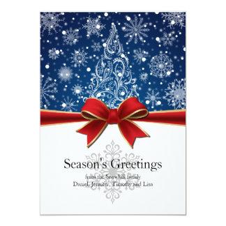 Cartão liso do feriado de inverno dos cumprimentos convite