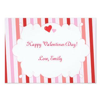 Cartão liso dos corações do dia do amor dos convite personalizados