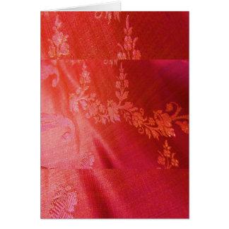 Cartão liso floral vermelho dos namorados customiz