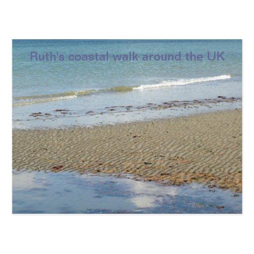 Cartão litoral da caminhada (1) cartao postal