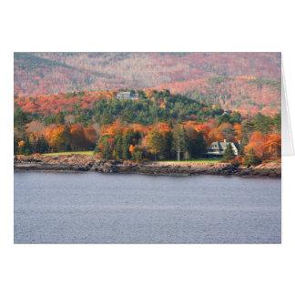 Cartão litoral de Maine