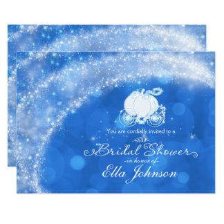 Cartão Livro de histórias Glam elegante azul & branco da
