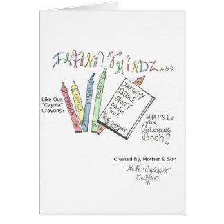Cartão Livro para colorir da história da bíblia da