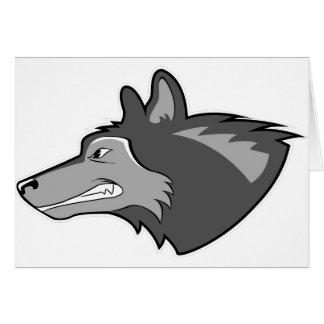 Cartão Lobo em cinzas lustrosas