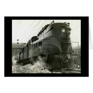 Cartão Locomotiva GG-1 #4800 da estrada de ferro de