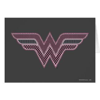 Cartão Logotipo cor-de-rosa e preto da mulher maravilha
