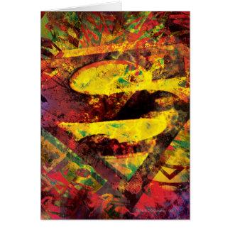 Cartão Logotipo do Grunge do S-Protetor | do superman