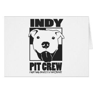 Cartão Logotipo do oficial do grupo de poço de Indy