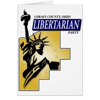 Cartão Logotipo do partido do libertário de Lorain County