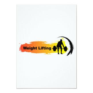 Cartão Logotipo original do levantamento de peso
