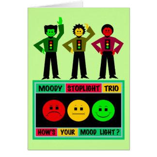 Cartão Logotipo temperamental do trio do sinal de