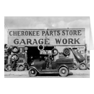 Cartão Loja Cherokee das peças, 1936