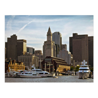 Cartão longo do cais de Boston Cartão Postal