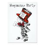 Cartão louco do convite de festas de Hogmanay do Convite 12.7 X 17.78cm