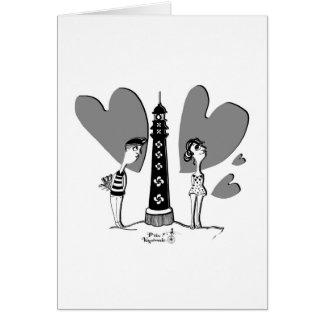 Cartão Love dentro Biarritz