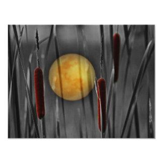 Cartão Lua cheia e sul - juncos africanos
