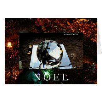 Cartão Luminosidade do Natal refletida