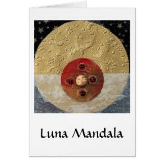 Cartão Luna - colagem