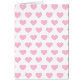 Cartão Luz - corações cor-de-rosa das bolinhas