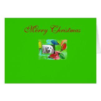 Cartão Luz de Natal do cachorrinho
