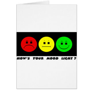 Cartão Luz temperamental horizontal do humor do sinal de