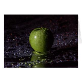 Cartão Maçã verde 101 da comida |