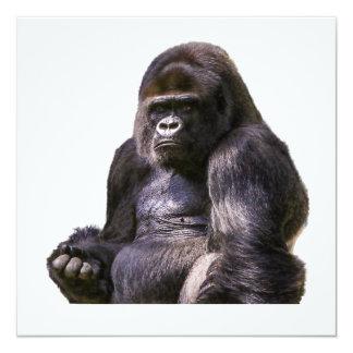 Cartão Macaco do macaco do gorila