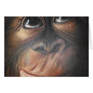 Cartão Macaco Notecard