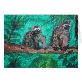 Cartão Macacos