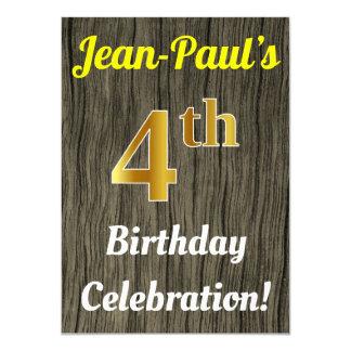 Cartão Madeira do falso, celebração do aniversário do