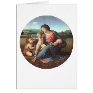 Cartão Madonna alba - Raphael 1508