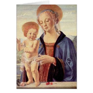Cartão Madonna e criança