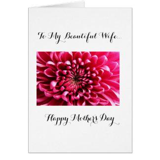 Cartão Mãe feliz a minha esposa