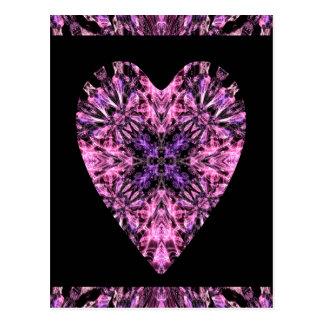 Cartão mágico bonito do coração a personalizar